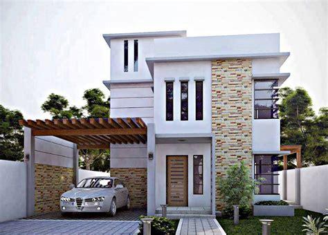 contoh desain rumah minimalis biaya  juta  juta