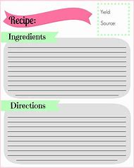 Best Recipe Card Template Word Ideas And Images On Bing Find