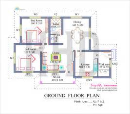 floor plan house nano home plan and elevation in 991 square kerala home design and floor plans