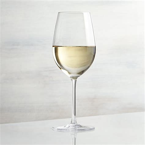 Vineyard White Wine Glass + Reviews | Crate and Barrel