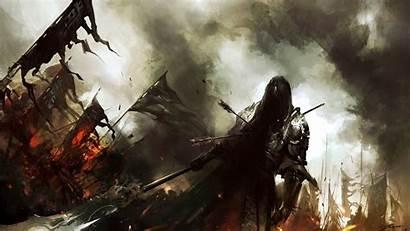 Knight Warrior Fantasy Battle Dark Army Fire