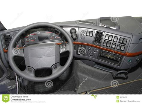 Truck Dashboard Stock Image. Image Of Industrial, Truck