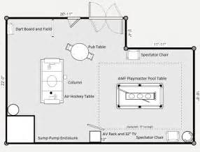 Room Plans by Layout Of My Quot Billiard Room Quot Basement
