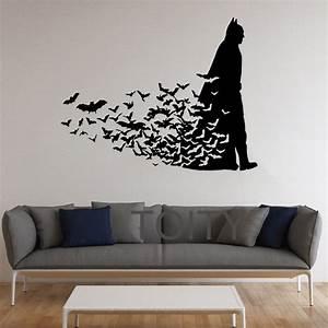 batman wall sticker dark knight poster movie comics vinyl With batman wall decal