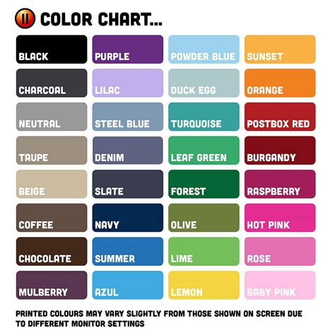 Unique Color Names Unique Color Names Unique Color Names