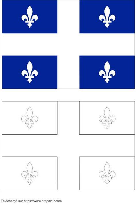 colories le drapeau du quebec drapazur