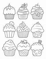 Coloring Cupcake Printable Adult Pdf Sheets Museprintables sketch template