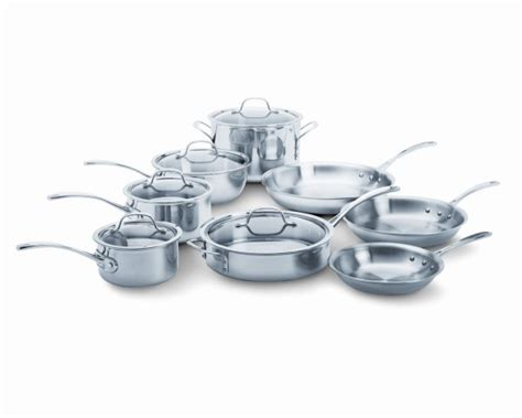 pans calphalon ply tri glass steel stainless cookware pots stoves cooktops