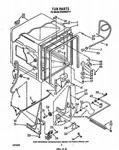 Tub Diagram  U0026 Parts List For Model Du8300xt4 Whirlpool
