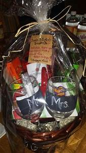 bridal shower or wedding gift date night gift basket With wedding night gift basket