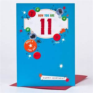 11th Birthday Card - Boy Things | Only 59p