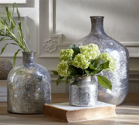 washed mercury glass vase pottery barn