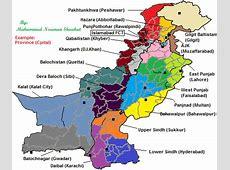 Pakistan New Provinces Map pakistan • mappery