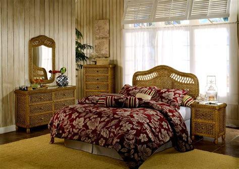 tropical rattan  wicker bedroom furniture