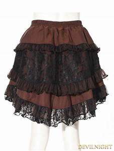 Brown Stripe Short Steampunk Skirt Devilnight Co Uk