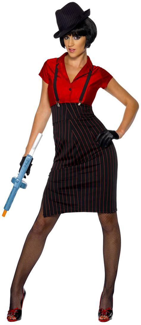 Adult 1920u0026#39;s Ladies Gangster Costume - 33722 - Fancy Dress Ball