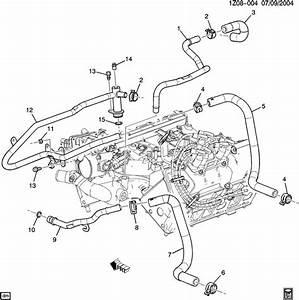 Pontiac G6 Hose  Engine Coolant By - Passenger  Hose  Therm Bypass Acdelco  10182356