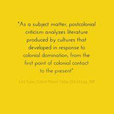 NEW WORLD by N.... Postcolonialism Theory Quotes