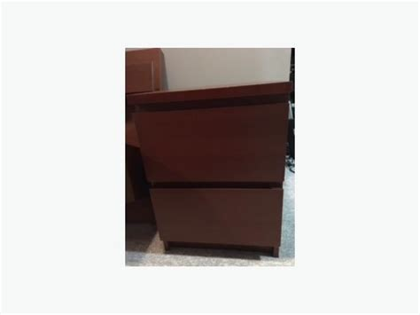 Malm Nightstand by Malm End Tables Medium Brown 2 Drawer Floating