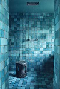 Rustic Tiled Turquoise Bathroom - Interiors By Color