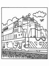 Coloring Pages Train Printable Transportation Trains sketch template