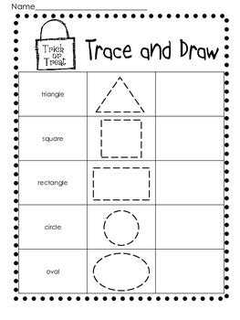 halloween  shapes practice worksheetsprintables