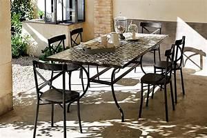 Carreaux De Ciment Exterieur : une table de jardin en carreaux de ciment salon de ~ Dailycaller-alerts.com Idées de Décoration