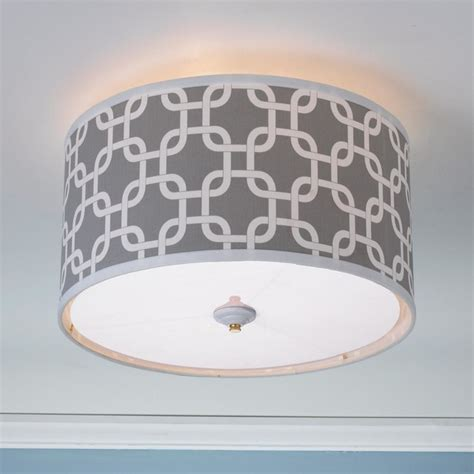 geometric fretwork drum shade ceiling light 8 colors