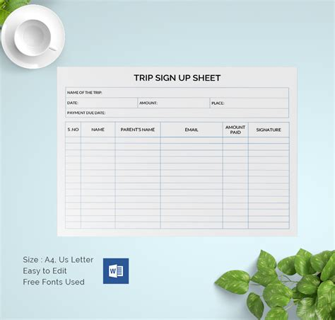 sign  sheets   word excel  documents