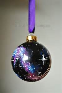 hand painted cosmos christmas ornament christmas by