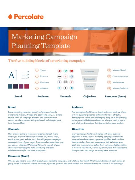 marketing campaign template   templates
