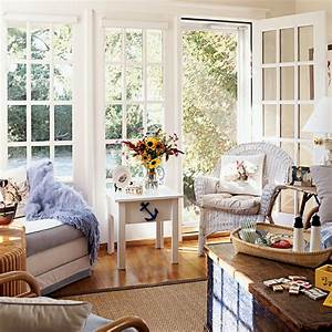 Nautical living room 100 comfy cottage rooms coastal for Nautical living room
