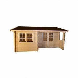 Abri De Jardin Avec Terrasse : abri de jardin en bois brut 5 x 5 m avec renfoncement terrasse ~ Dailycaller-alerts.com Idées de Décoration