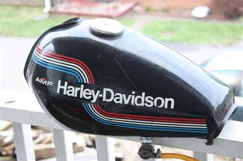 #harley Harley Davidson Amf Gas Tank Original Paint And