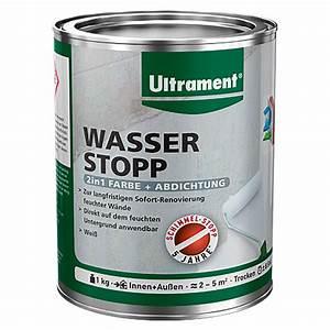 Farbe Gegen Feuchtigkeit : ultrament wasser stopp 2in1 farbe abdichtung wei 1 kg bauhaus ~ Sanjose-hotels-ca.com Haus und Dekorationen