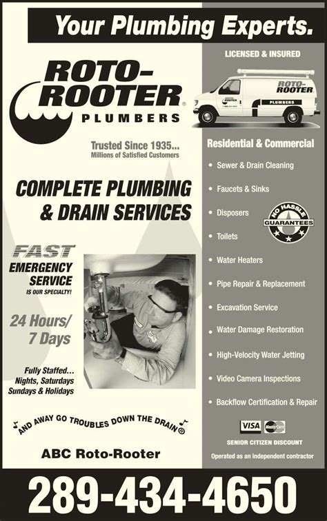 roto rooter plumbing drain services roto rooter plumbing drain service st catharines on