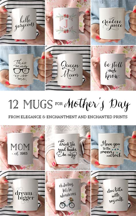 12 handmade s day 12 mugs for mother s day custom and unique gift idea for your mom wife daughter aunt