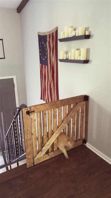 baby gate with cat door diy barn door baby gate with pet door