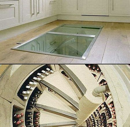 wine cellar in floor of kitchen at glance this kitchen may seem normal but at the 2126