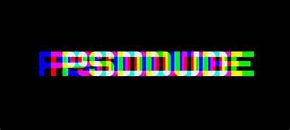 Glitch Effect Text Photoshop Tv Psd Tutorials