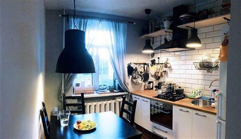 Ikea Small Kitchen Ideas - mała przytulna kuchnia prawie wszystkie z ikea zdjęcia