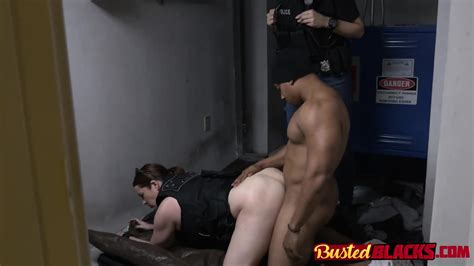 Cops Teased And Fucked By Black Criminal In Abandoned