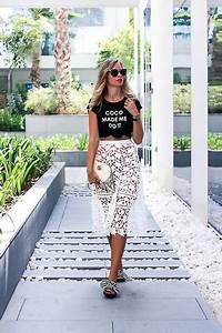 My Philocaly - - Dubai Outfit Inspo w/ Midi skirt u0026 striped Slides | LOOKBOOK
