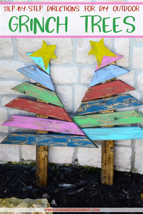 grinch trees outdoor christmas decorations grinch