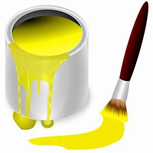 Clipart - color bucket yellow