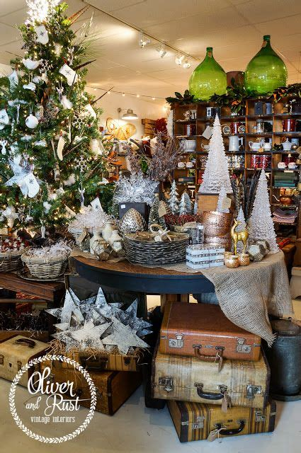 a vintage woodland christmas visual merchandising