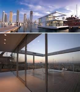 Two Story House Plan Water Villas 3 Sleek Modern House Boats In Settings Urbanist
