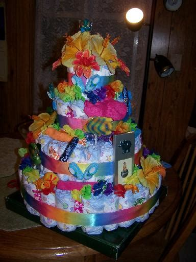hawaiian themed baby diaper cake instructions pictures
