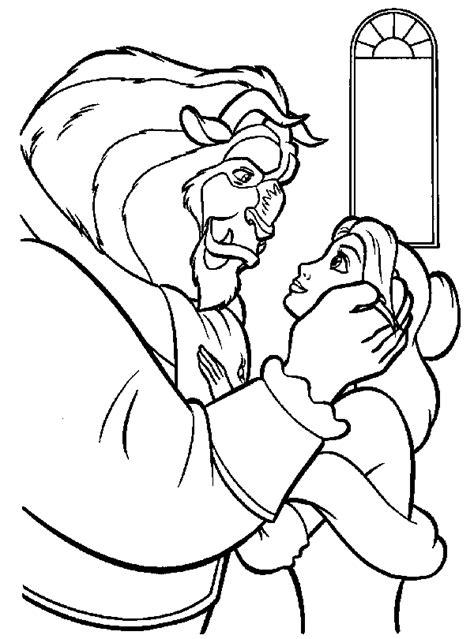 Kleurplaat And The Beast by Gratis And The Beast Kleurplaten Voor Kinderen