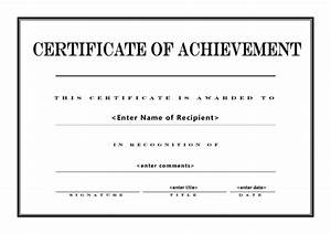 certificate of achievement 004 With certificate of accomplishment template free